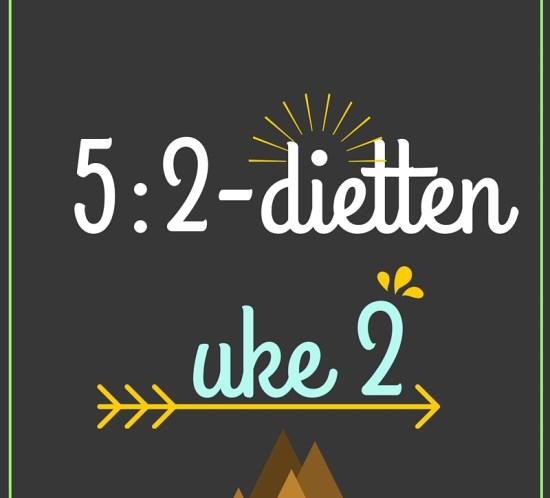 Oppskrifter og dagsmenyer på 5-2-dietten uke 2, 2016