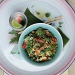Sursøt indrefilet av svin med ingefær, ananas og grønnsaker