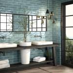 TREND: Store fliser, marmor og naturnære toner på badet