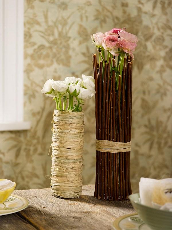 DIY vase av kvister