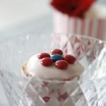 17. mai-cupcakes i rødt, hvitt og blått