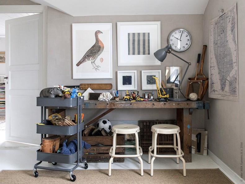 INTERIØRTIPS - Kreativt skrivebord på barnerom - gutterom