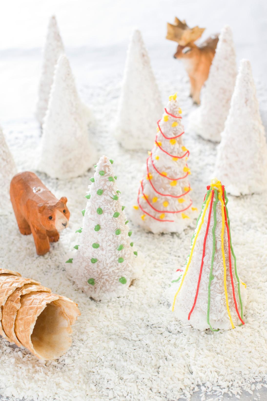 Lag en skog av jultraer