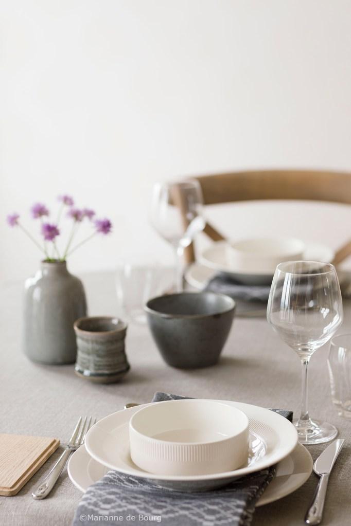 5 kreative bord med serviset Duet