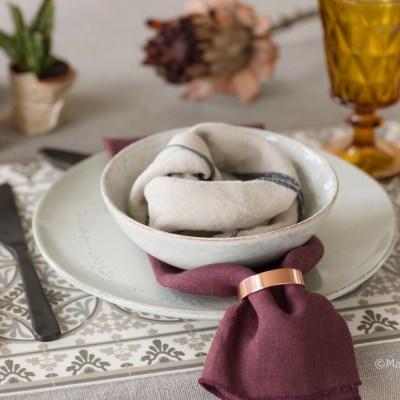 5 kreative bord med serviset Nordic Sand