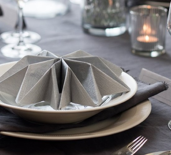 Napkin folding for wedding table