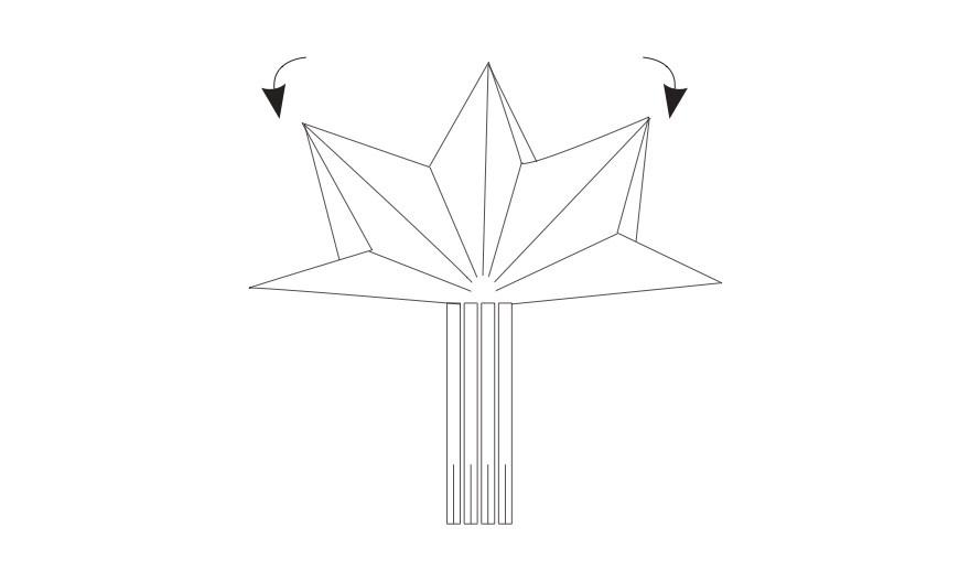 Napkin folding star 7