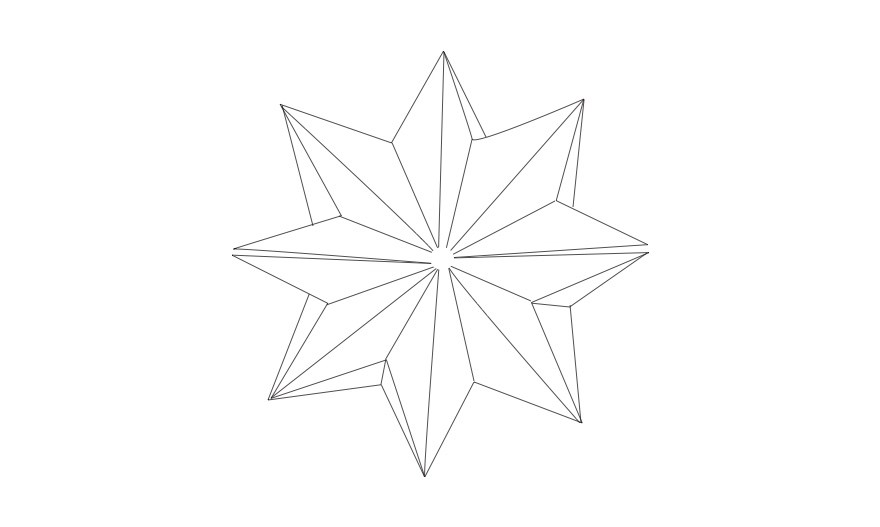 Napkin folding star 8
