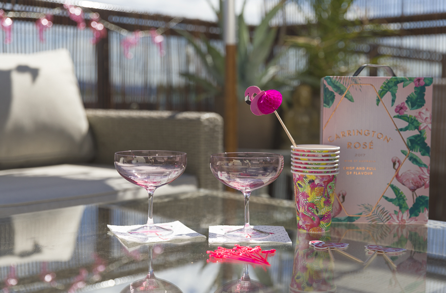 Flamingo cocktail party birthday
