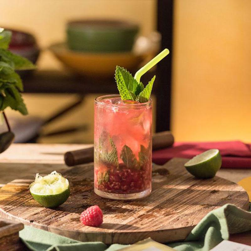 Bringebær Mojito Cocktail Oppskrift