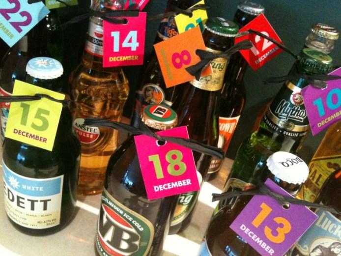Julekalender med 24 ulike typer øl.
