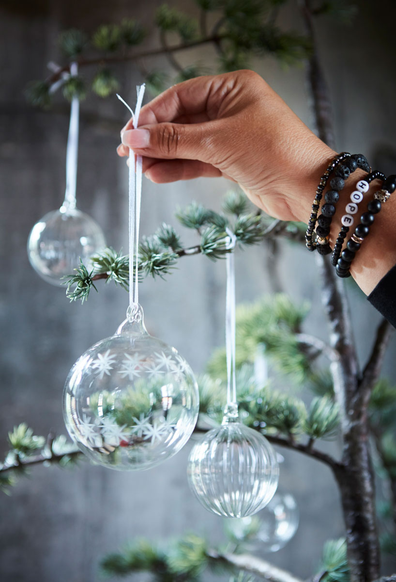 Glasskuler til juletreet.