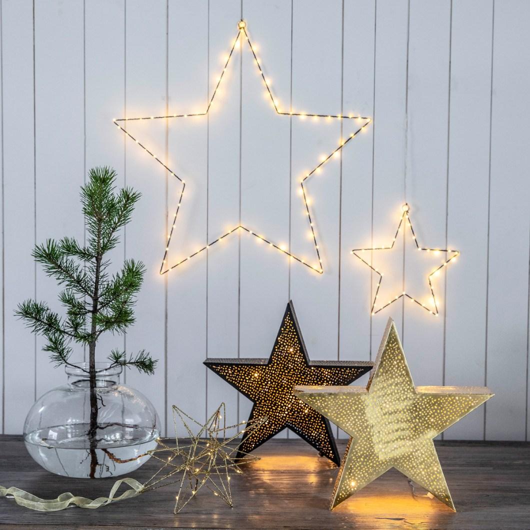 Julebelysning: Stjerner.