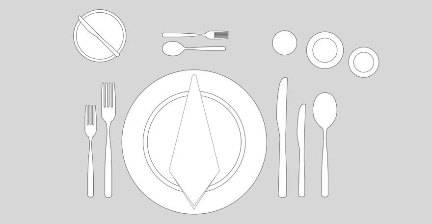 Skikk og bruk for riktig borddekking