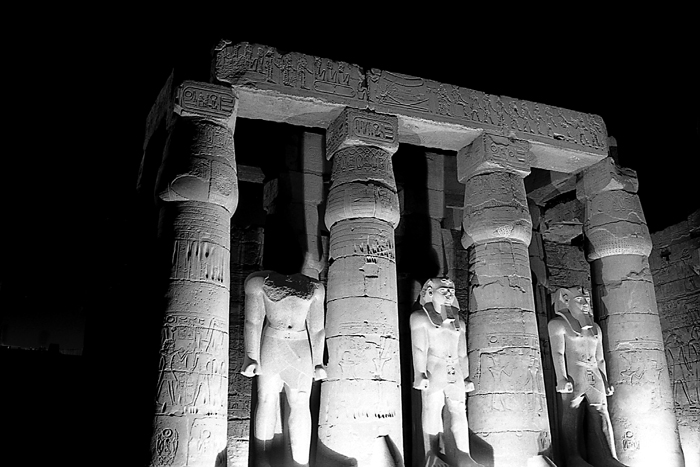 Statues of Ramses the 2nd, Luxor, Egypt.