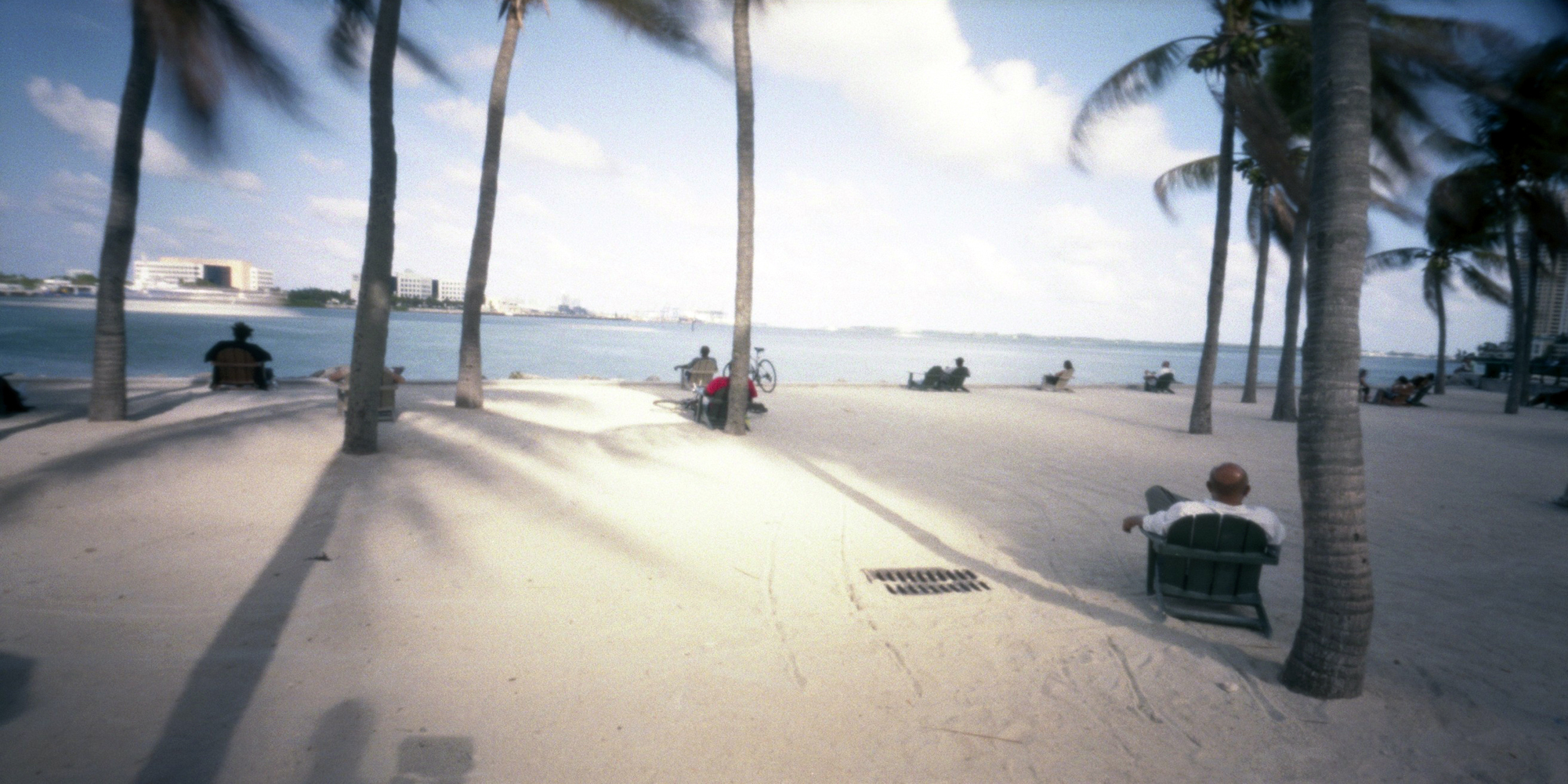 Bayside beach, Miami, USA.