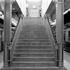 "Stairs at ""Primera Junta"" station, ""A"" line."