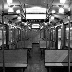 "Empty carriage, ""H"" line."