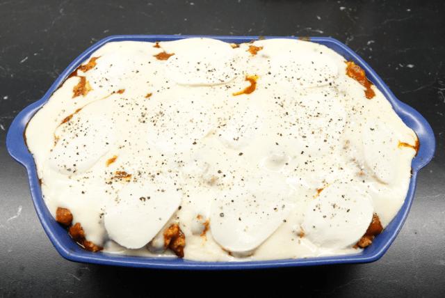 Kycklinglasagne med mozzarella