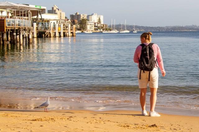 Maria och måsen på Manly, Sydney