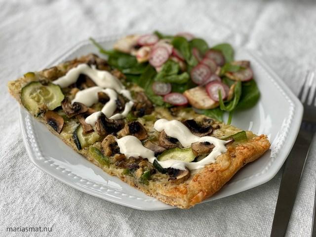 Laxpizza med Skärvångens Blå-Ädel