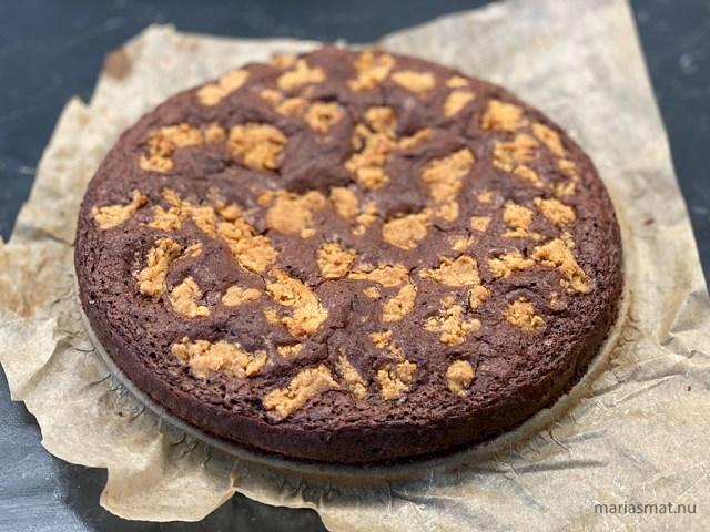Kladdkaka med jordnötssmör och chokladganache