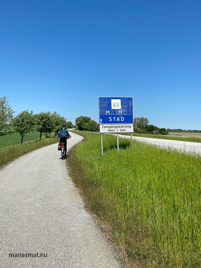 Cykla sydkustleden mellan Höllviken och Malmö