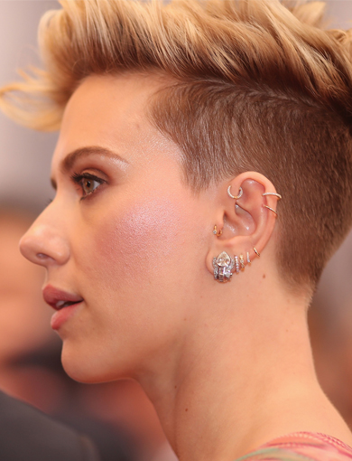 0 Email Print Scarlett Johansson Scarlett Johansson, the multitalented  actress, has visited our Broadway and London locations for new jewelry to  adorn her ears. Most recently, she purchased our new Invisibly Set Diamond  Eternity and Marquise Scalloped ...