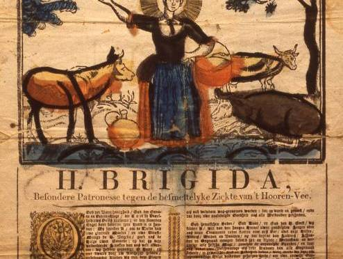 Bezieling door Saint 'Brigid uit Kildare' via LeMUria Kaars – Inwijding – Skull of Draak