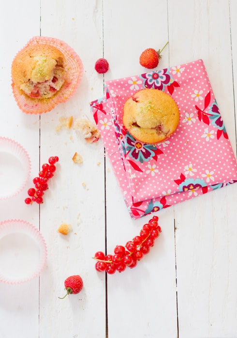 Muffins de buttermilk con frutos de bosque