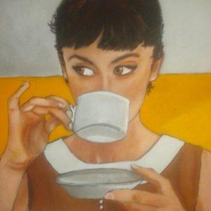 Fille à la tasse -d'après photo - marie-colombier-04