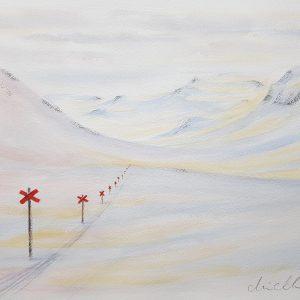 Akvarell av Marie Andersson, Ledkryss