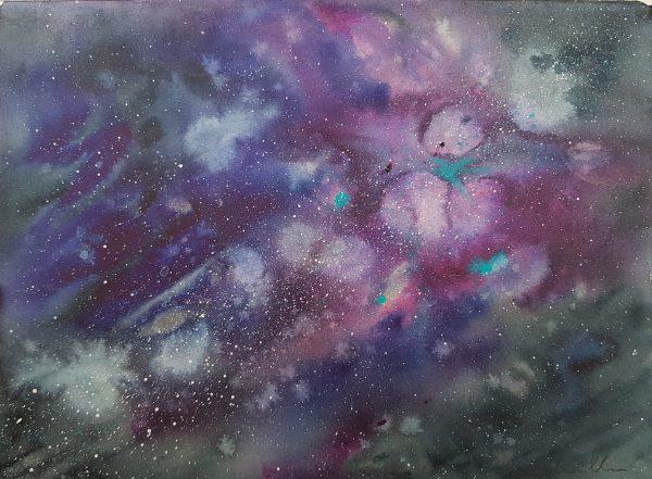 Blue space, nebual, stars