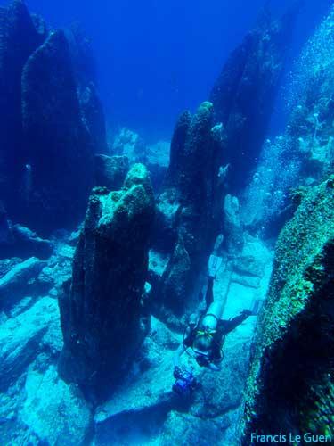 Seychelles, Marie-Ange Ostré en plongée sur le site de Marianne © Francis Le Guen