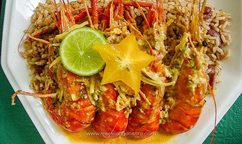 Guadeloupe, recette curry de ouassous © Marie-Ange Ostré