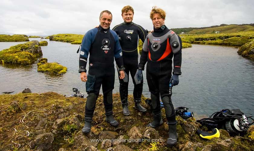 Islande, plongeurs sur la faille de Silfra dans le parc national de Þingvellir © Marie-Ange Ostré