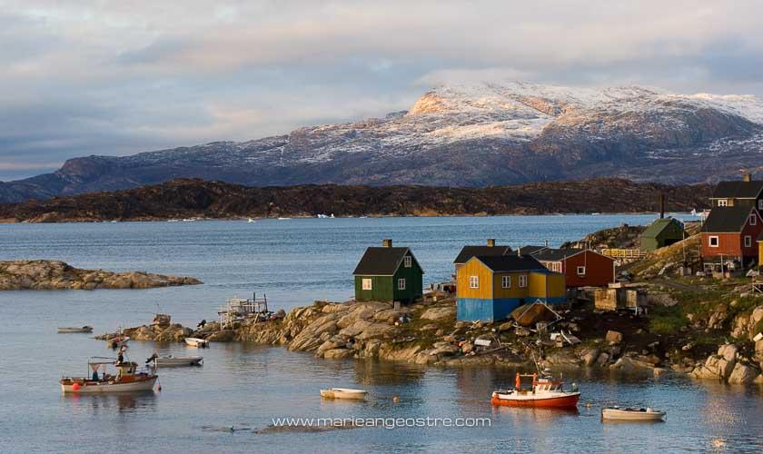 Groenland, au village d'Aappilattoq © Marie-Ange Ostré
