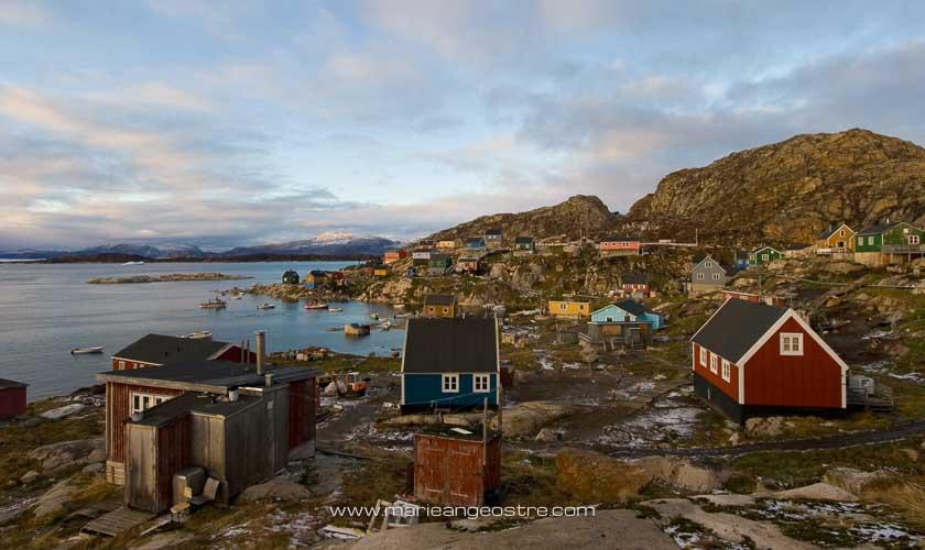 Groenland, village d'Aappilattoq au Nord © Marie-Ange Ostré