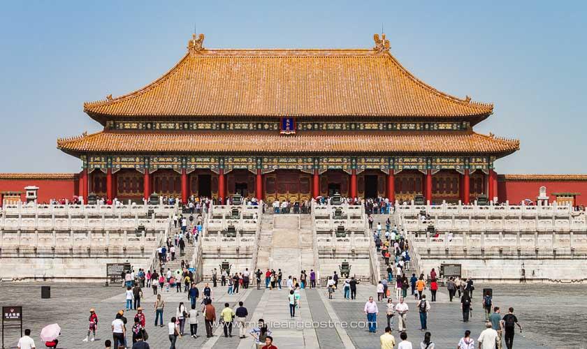 Chine, face à l'entrée de la Cité Interdite, Pékin © Marie-Ange Ostré