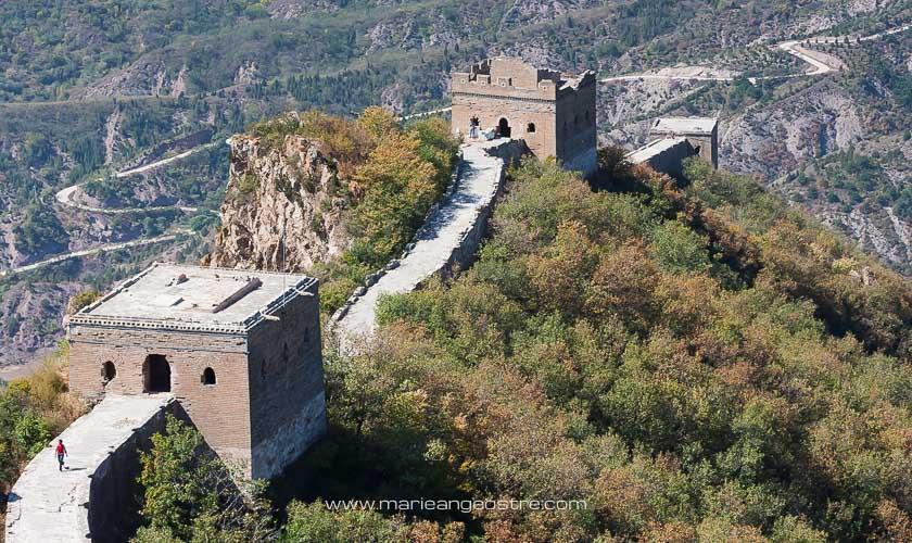 Chine, tours de guet sur la Grande Muraille, Simatai © Marie-Ange Ostré