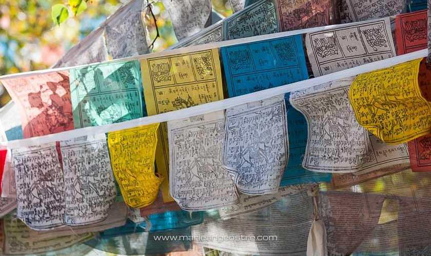 Chine, drapeaux prières tibétains, province de Shangri-La © Marie-Ange Ostré