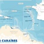 Carte des vols Air Caraïbes