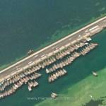 Qatar, vue aérienne sur un port traditionnel marchand © Marie-Ange Ostré