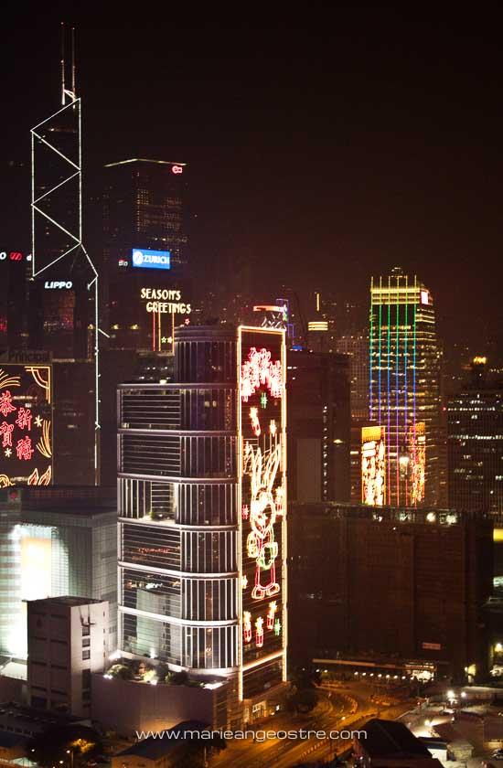 Hong Kong, vue de nuit © Marie-Ange Ostré
