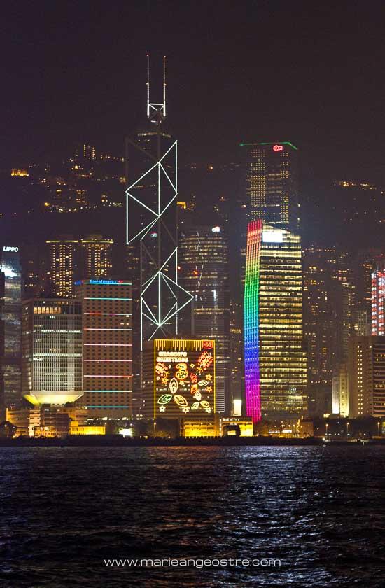 Baie de Hong Kong de nuit © Marie-Ange Ostre