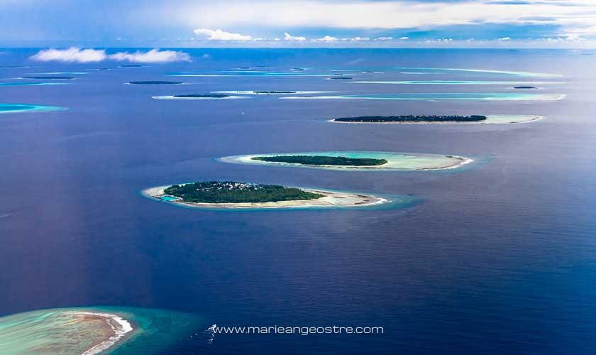 Maldives, différents atolls © Marie-Ange Ostré
