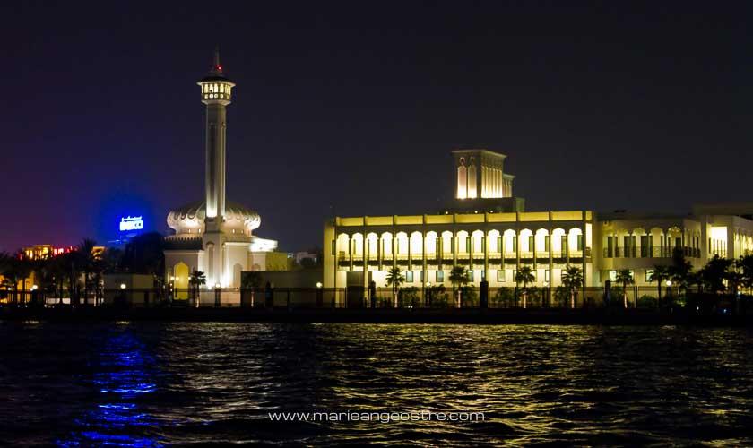 Dubai de nuit, palais du gouvernement © Marie-Ange Ostré
