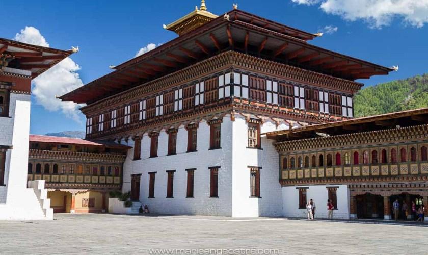 Bhutan, inside Thimphu fortress (Bhoutan, à l'intérieur de la forteresse de Thimphu, capitale) © Marie-Ange Ostré