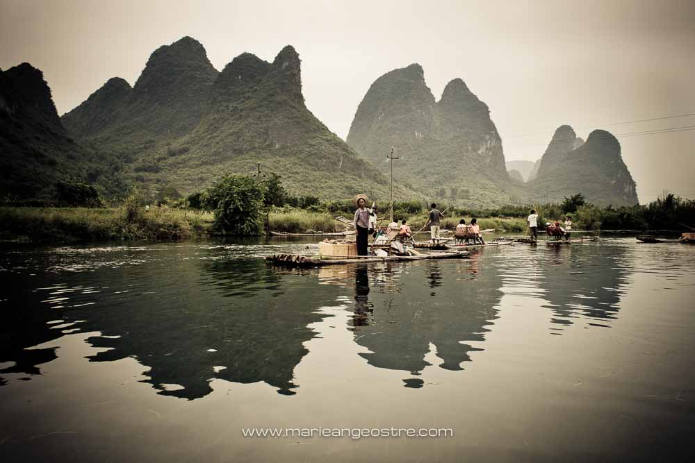 Chine, Guilin river (Chine, rivière de Guilin) © Marie-Ange Ostré