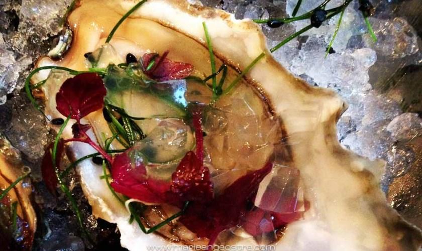 France, Paris, Goumard restaurant, oyster with Sauternes gelée © Marie-Ange Ostré